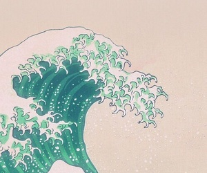 art, pretty, and waves image