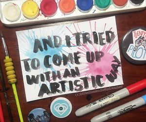 all time low, alternative, and art image