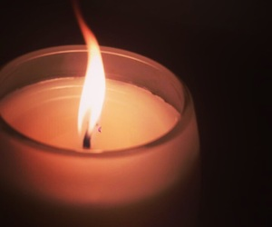 candle, Darkness, and fire image
