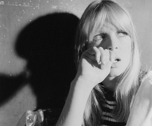 nico, 60s, and black and white image