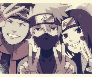 rin, obito, and kakashi image