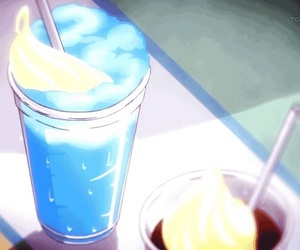 soda and anime food image