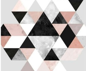 black, pink, and triangle image