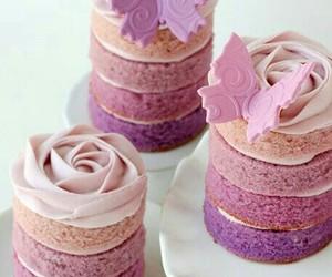 cake, flower, and weeding image