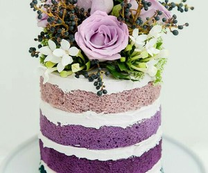 cake, colors, and flower image