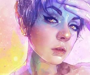 art, colour, and girl image