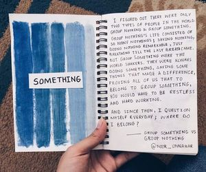 blue, journal, and art image