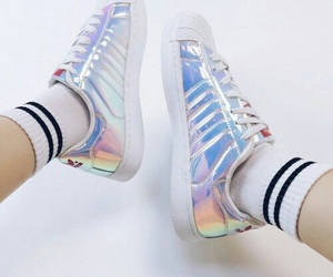 adidas and holographic image