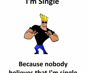 alone, funny, and single image