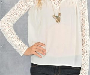 blouse, stunning, and lace image