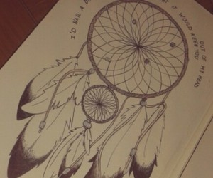 diary, Dream, and dreamcatcher image