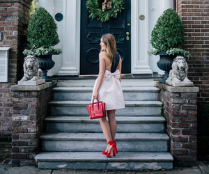 black and white, black and white dress, and blogger image
