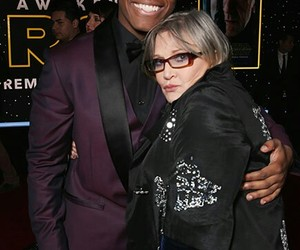 carrie fisher, finn, and Princess Leia image