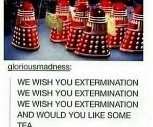 christmas, Dalek, and doctor who image