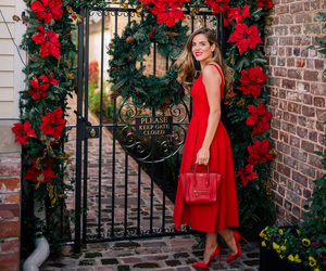 blogger, photo, and red dress image