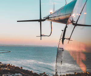 sky, beach, and plane image