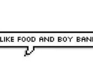 food and boy bands image