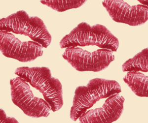 background, fashion, and kiss image