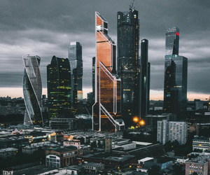 city, buildings, and russia image
