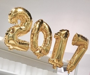 2017, new year, and gold image