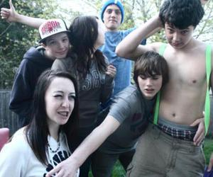 boy, half naked, and party image