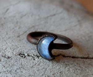 jewelry, moon, and ring image