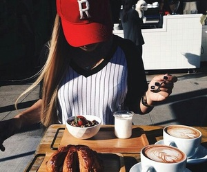 food, girl, and blonde image