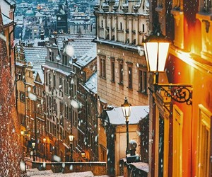 beauty, buildings, and snow image