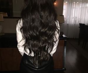 brunette, Couture, and long hair image