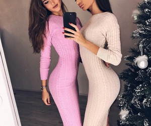 christmas, look, and pink image