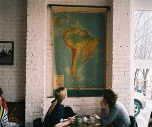 couple, map, and travel image
