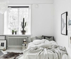 bed, pillows, and white image
