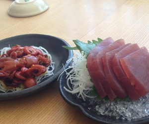 food, sushi, and octopus image