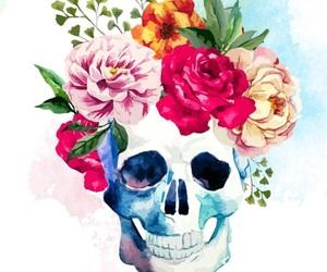 """art"""" """"skull"""" """"flower image"""