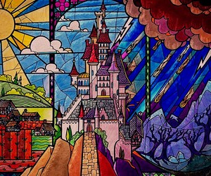 disney, beauty and the beast, and castle image