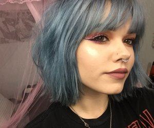 billie, color hair, and blue hair image