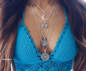 necklace, boho, and fashion image