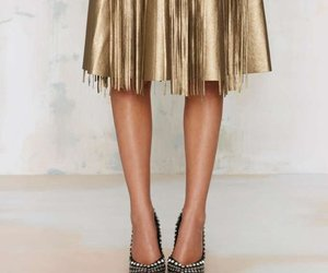 fashion, golden, and shoes image