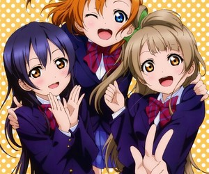 love live, school idol project, and anime girl image