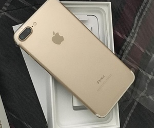 iphone, iphone 7, and gold image