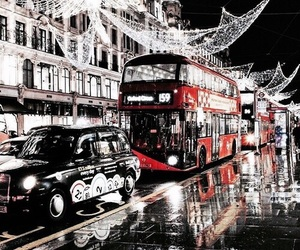 london, light, and christmas image