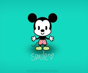 smile, cute, and mickey mouse image