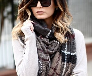 accessories, scarf, and woman image