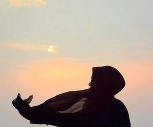 hijab, lights, and photography image
