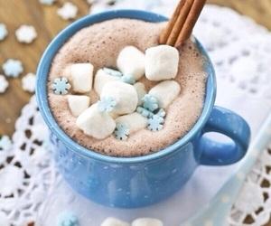 winter, chocolate, and christmas image