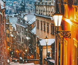 prague and winter image