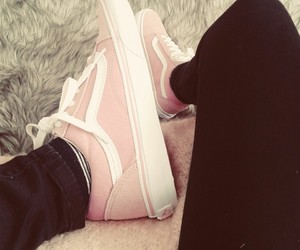 chaussure, pink, and vans image