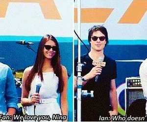Nina Dobrev, nian, and ian somerhalder image