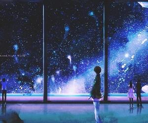 anime, sky, and stars image