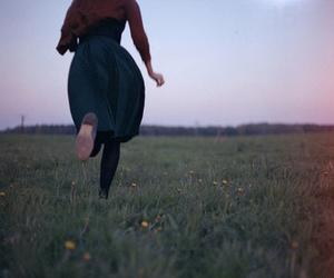 girl, photography, and run image